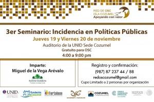 Invitación Seminario Incidencia en Políticas Públicas